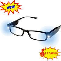 Lesebrille Lesehilfe mit LED-Lampen Sehstärken brille mit licht-verschieden 2020