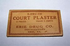 VINTAGE ERIE PA DRUG CO COURT PLASTER APOTHECARY PHARMACY ENVELOPE PACKAGE