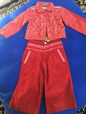 NWT OILILY Epoxy Shirt Jacket Corduroy Flare pants Outfit $250! size 104 US 4t/5