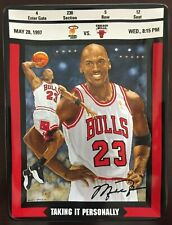 Michael Jordan: Ticket To Greatness Collection Taking It Personally w/ Coa
