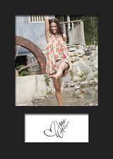 JANA KRAMER #1 A5 Signed Mounted Photo Print - FREE DELIVERY