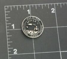 Apollo 11 Moon Landing Pin Silver tone