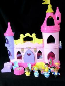 Fisher Price Little People Disney Princess MUSICAL DANCING PALACE Complete/Xtras