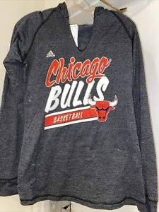 NBA Chicago Bulls Women's V-Neck With Hoodie Long Sleeve Size Small NWT