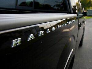 Ford Harley Davidson Bed Side Emblem Nameplate F150 F250 F350 BRAND NEW PAIR