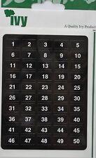 2,000 Adhesivo Numerados Etiquetas 1-500 Autoadhesivo - 4 por Número - Hiedra