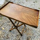 Vintage Drexel Et Cetera Faux Bamboo Safari Style 2 Piece Butlers Tray Table MCM