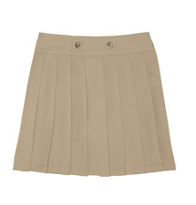 New French Toast Girls' Front Button Pleated Scooter - Khaki 5