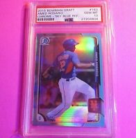 2015 Bowman Chrome Draft #163 Amed Rosario Sky Blue Refractor RC PSA 10 #163 RC