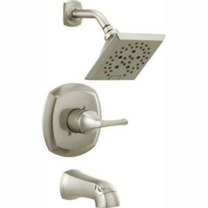 New Delta Portwood Tub and Shower Facuet in Brushed Nickel 144770-SP (258)