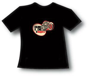 Crime Scene Choppers Bobber Motorcycle T-shirt Tee Shirt