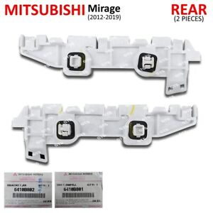 Pair Rear Right Bumper Bracket For Mitsubishi Mirage Space Star 2012 2019