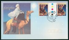 MayfairStamps Australia FDC 1996 Christmas Gutter Sheet First Day Cover wwr5611