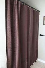 Popular Home-Chelsea Patterned Brown Fabric Shower Curtain 70 x 72-Nip