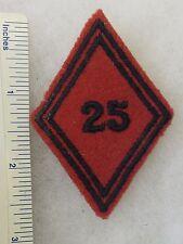 ORIGINAL Vintage FRENCH ARMY 25th ARTILLERY REGIMENT SLEEVE DIAMOND UNIT PATCH