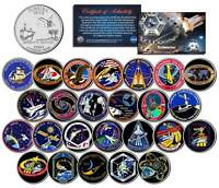 SPACE SHUTTLE ENDEAVOUR MISSIONS Colorized Florida Quarters US 25-Coin Set NASA