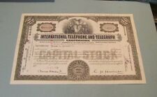 1954 1977 International Telephone and Telegraph Itt Stock Certificate Lot