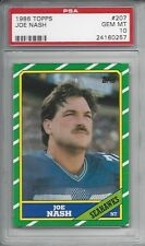 1986 Topps #207 - Joe NASH - PSA 10+++ Seahawks