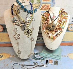 Lia Sophia Jewelry Lot Necklaces Pendants Bracelets