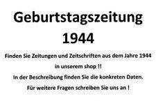 Geburtstagszeitung 1944 Zeitung vom / zum 77. Geburtstag Geschenk Film Theater