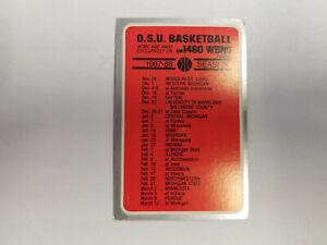 Ohio State University 1987/88 Men's Basketball College Pocket Schedule (RK)