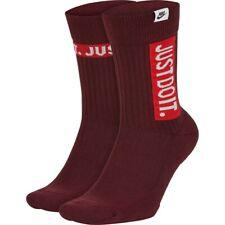 *NEW* Nike SNKR Socks Just Do It Crew Socks 2 Pairs Men's Sz 8-12 SK0127-681