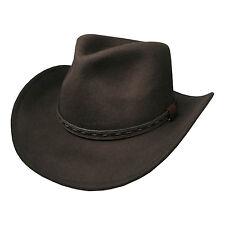 Hombre vendedor GB Marrón Borsalino Sombrero De Cowboy Borde Ancho 39004-5