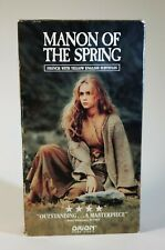 Manon Of The Spring VHS Rare Yves Montand Emmanuelle