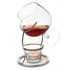 Brandy Warmer Set, Cognac Glass, Stand & Tealight Warmer 3 Piece Barware Gift