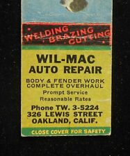 1940s Wil-Mac Auto Repair 326 Lewis Street Pointer Dog Oakland CA Alameda Co MB