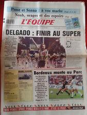 journal  l'équipe 23/07/88 CYCLISME TOUR DE FRANCE 1988 DELGADO L