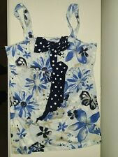 JUSTICE Light Blue Multi Colors Floral Butterfly Silver Glittered Knit Top SZ 14