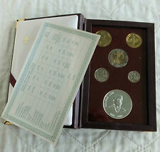 FINLAND 1996 5 COIN PROOF YEAR SET WITH SILVER MINT MEDAL - sealed pack/coa