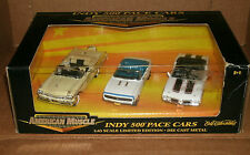 Set of 1/43 Scale Indy 500 Pace Cars - Mercury - Camaro - Olds 442 - Ertl 32004