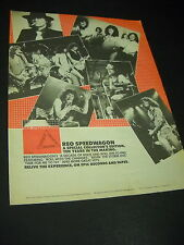 Reo Speedwagon Ten Years In The Making 1980 Promo Display Ad mint condition