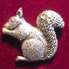 Quality Pewter Squirrel Pin : Craftsman Quality