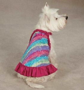 Confetti Dog Dress East Side Collection  pet  blue dresses pink sundress