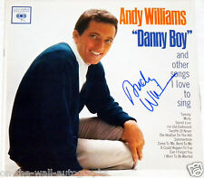 ANDY WILLIAMS HAND SIGNED AUTOGRAPHED DANNY BOY ALBUM! WITH PROOF + C.O.A.! PSA