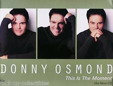 Donny Osmond 2000 This Is The Moment Original Promo Poster