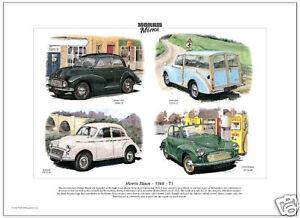 MORRIS MINOR 1948-71 - Fine Art Print - Series II, MM, Traveller and 1000 Tourer