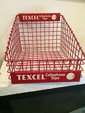 Vintage Texcel Cellophane Tape counter display wire basket #2