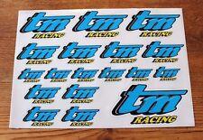 TM Racing Adesivo Set-A4 Dimensioni foglio di 18 ADESIVI laminato/Decalcomanie-Kart