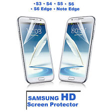 HD PET Full Coverage Film Screen Protector For Samsung Galaxy S4,S5,S6,S6 Edge