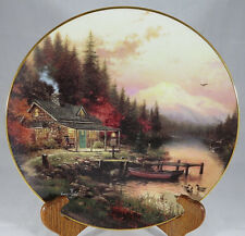 Vtg Thomas Kinkade Collectors Plate 1994 Bradford Exchange End of a Perfect Day