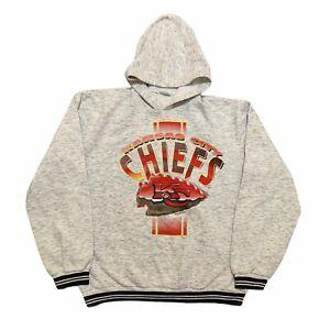 Vintage Kansas City Chiefs Sweater Youth Extra Large Gray NFL Football 1995 Boys