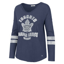 Women's Toronto Maple Leafs Letter Courtside Royal Blue LS T-Shirt Hockey XL