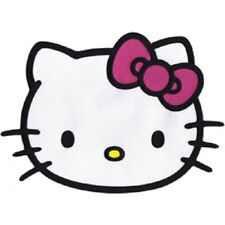 "Hello Kitty Head Shot Large Embroidered Iron On Patch Size 10"" X 7"""