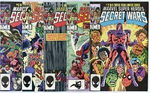 Secret Wars #2 - 7, 9 - 12  avg. NM/NM+ 9.4/9.6  Marvel  1984  No Reserve