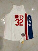 Julius Erving #32 New York Nets Basketball Mens Jersey minor defects White