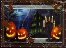 Jack-O-Lantern Hunted House Silhouette Wall Door Table Cover Halloween Decor